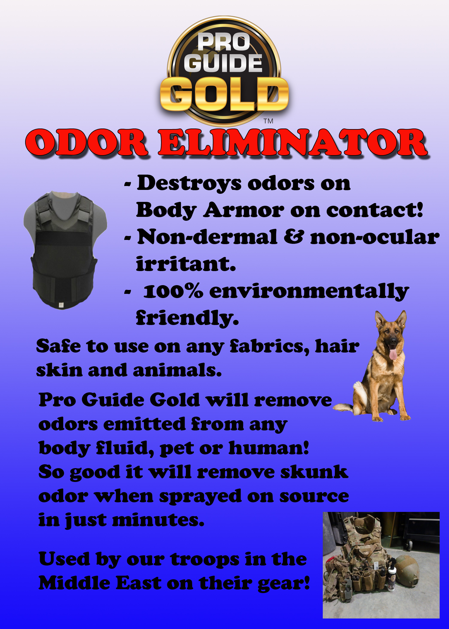 Pro Guide Gold Body Armor Odor Eliminator